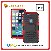 Dual Layer Tough Rugged Hybrid Armor Heavy Duty Shockproof Case for Iphone 6s Plus With Kickstand