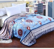 100% Polyester super soft high quality hot sale new design printed Flannel Blanket