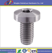 Cylinder head screws SS316 SS304 Best Price Wholesale Flat Head White Zinc from Yuyao OuKaiLuo