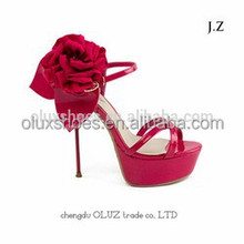 OS14 Women Suede Party Prom High Heel Belt BuckleShoes Sandals