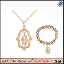 100 % Rhodium CZ Copper Gold18k Gold Plated Jewelry Set