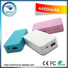 mobile phone external battery lithium polymer luxury battery power bank 4400mah with usb charging hand warmer