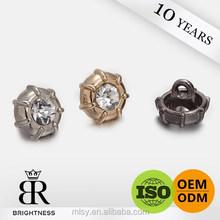 Big acrylic diamond btn brand x button for garments Brightness A4-80042
