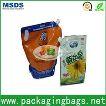 dongguan printed packing cooking oil plastic bag