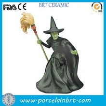 Halloween giftware decorate wicked witch design Resin Mini Figurine