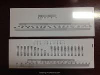 Kearing plastic slide rule, OEM customerization PVC plastic ruler, economical slide ruler from China