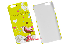 High quality Plastic blank mobile cover for apple 3D paper sublimation Heat press clear Phone case for iPhone 6