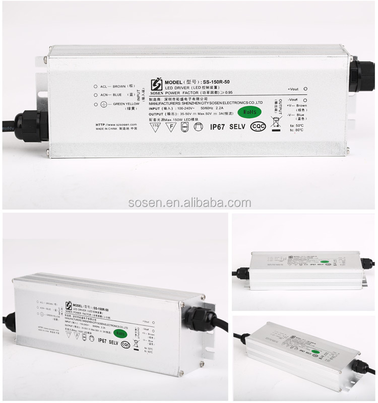 Alibaba China single output voltage ip67 3A led power supply