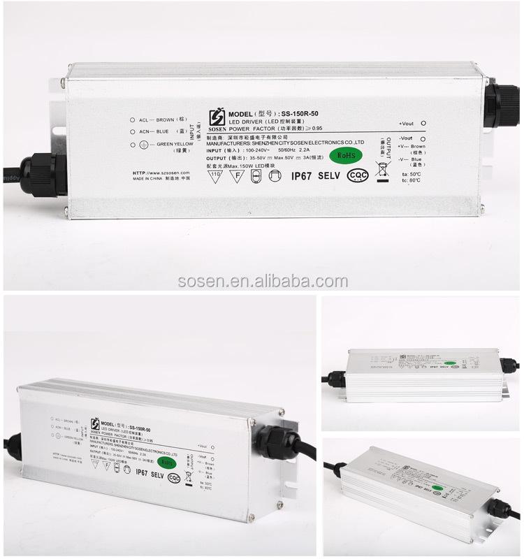 single output 150W ip67 3A led power supply UL SAA Approval