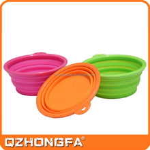 High quality durable water bowl,cheap silicone folding bowl
