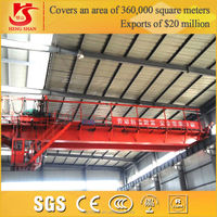 QD Type 10 ton HIgh Quality Double Girder Overhead Travelling Crane