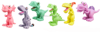 Vinyl cartoon dinosaur world kids 9'' vivid cute plastic dinosaur toys