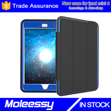For ipad mini genuine leather case, for ipad mini4 smart protective case