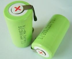 1.2V nimh battery sc 3000mAh with tabs