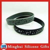 Fashion Black and Gray Silicone Bracelet Accessories