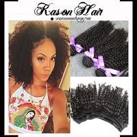 2015 New Products Brazilian Kinky Curly 3 Bundles 100% Grade 7A Unprocessed Virgin Hair Bundles Weave