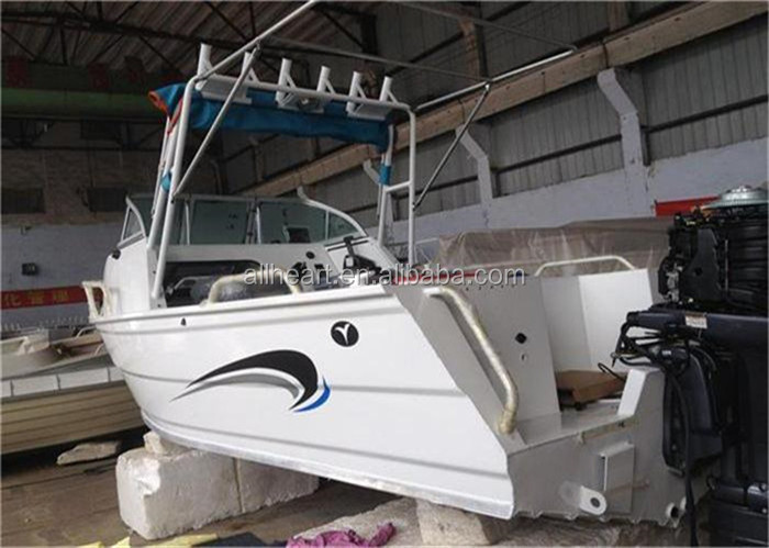 Aluminum fishing trailer boat 17ft with small cabin boat for Aluminum boat with cabin for sale