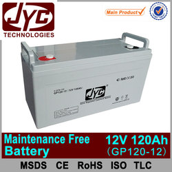 Hot factory price energy storage maintenance free battery 12v 120ah