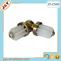 most popular curtain rod accessories, corner turning stainless steel and plastic connector