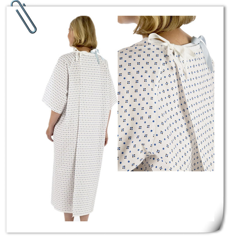 Europe Style 100% Cotton Hospital Clothing Patient Gown Wholesale ...