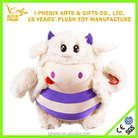 Fashional style stuffed animal cute plush cow lovely girl gifts stuffed plush valentine cow