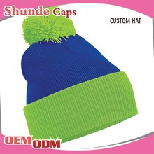 Women And Men Cap Wholesale Blank Winter Beanies Hats With Top Ball