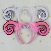 Free shipping wholesale animal sheep ear headband for children party hair accessories