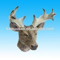 resina lindo cabeza de ciervo artesanías para la decoración del hogar