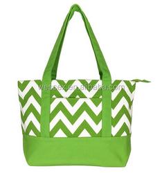Fashion Slash Prints Canvas Tote Bag Zippered Large Cotton Hand Bag 100% Cotton Beach Bags