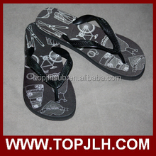Color black/white/yellow/red/pink strap flip flops