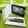 "Luxury car promotion video card in 5"" video booklet with UV Logo"