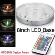 Event party supplier 8inch Remote Control Vase LED Light Base
