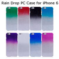 New Arrival Creative Rain Drop PC Hard Case Cover for iPhone 6 4.7