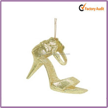 gold elegant high-heeled shoes mexican christmas decorations
