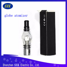 2015 SXK still hottest glass globe atomier ego wax atomizer glass dome atomizer with many kind coil heater