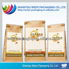 custom made paper heat seal resealable plastic bags for food