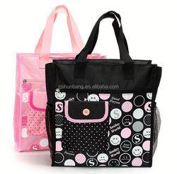 polyester beach tote bags/ polyeste yoga bag fold up polyester drawstring bag