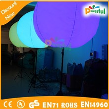Guangzhou factory 4mH inflatable ball with led light/stand light balloon large/inflatable led ball