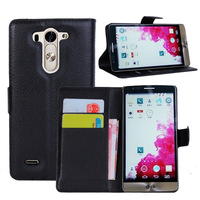 Wallet Flip Leather Case for LG g3 mini D725 Stand Case