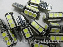 Factory Price 5050SMD car ligh type T10 13SMD Canbus led car light bulb