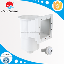 Top quality swimming pools with wall skimmer with decorative face plate and return inlet