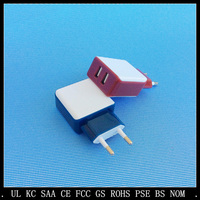 low MOQ cheap portable mini size mobile dual usb Charger for cell phone