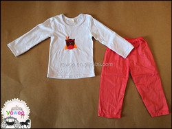 Bulk wholesale newborn baby girls clothing set with cotton material comfortable girls clothing.