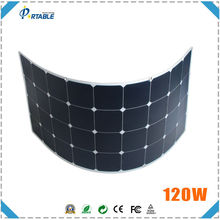 hottest 18V 120W 23.5% high efficiency sunpower solar recharge with standarded MC4 connctor with much bending angle