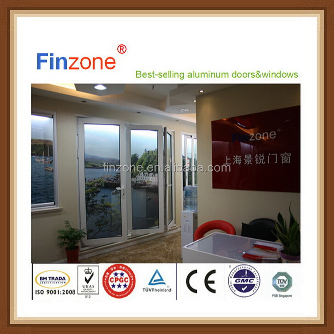 Good quality special style aluminum alloy folding patio doors 670 x 670
