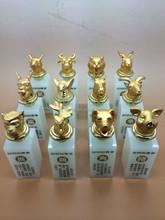 Factory Supply Chinese Twelve Animal Zodiac 24K Gold Plating seal /jade seal crafts
