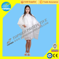 Hair Cutting Hairdressing nonwoven disposable Barber PP Cloth Gown beauty use