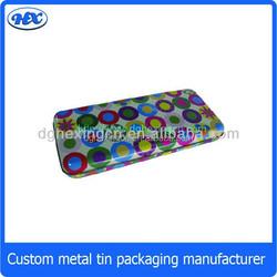Tin pencil box metal pencil box tin stationary box