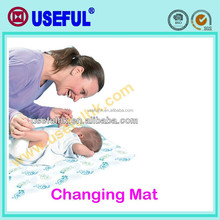 With plastic bag non-woven Wholesale diaper changing mats Disposable Changing Pad