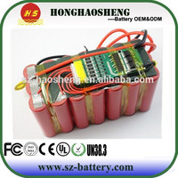 Hot sales 3s8p rechargeable 18650 12v 24ah lithium ion battery pack for e bike/electric scooter